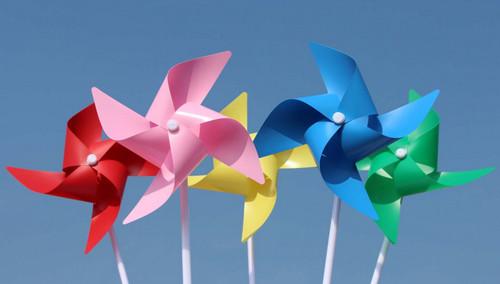 纸盘风车步骤图片
