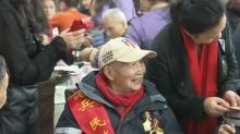 36名抗战老兵齐聚长沙团年