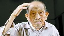 104岁老兵:5颗子弹留身体