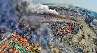 可燃物为混合化学物质 遇水直接爆炸影响救援